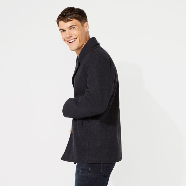 BIG & TALL WATER REPELLENT PEACOAT,Pale Blue,large