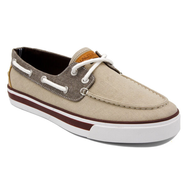 Galley Boat Shoe in Khaki/Brown - Khaki Wash