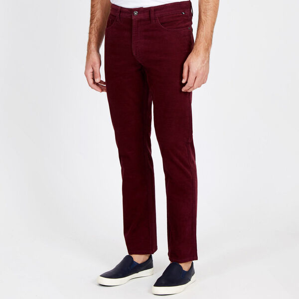Straight Leg Corduroy Pant - Royal Burgundy