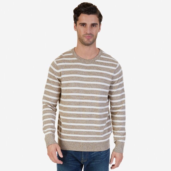 Snowy Striped Sweater - Woodrift Flax