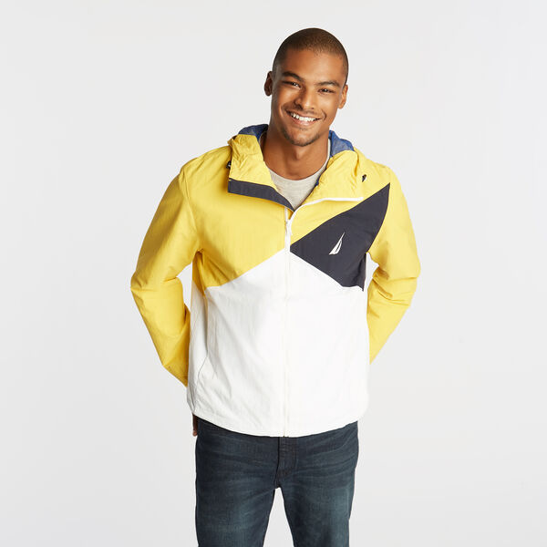 LIGHTWEIGHT JACKET IN COLORBLOCK - Buoy Yellow