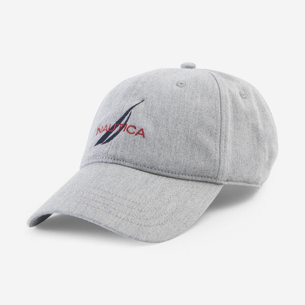 NAUTICA LOGO 6-PANEL CAP - Grey Heather
