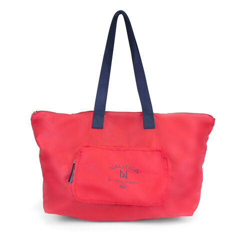New Tack Logo Pocket Large Tote - Nautica Red
