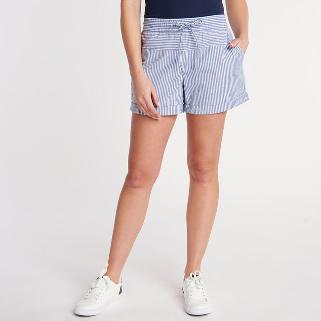 Asbury Classic Fit Stretch Short in Stripe,Deep Navy Heather,large