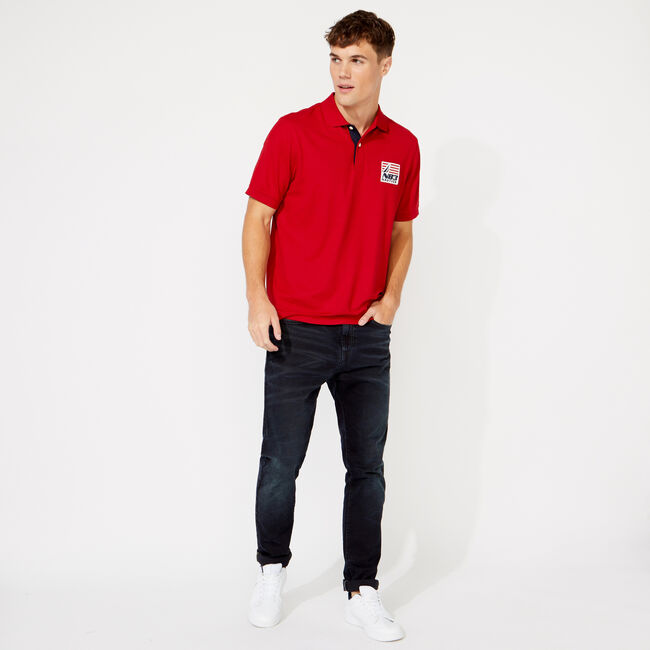 NAVTECH CLASSIC FIT N83 POLO,Nautica Red,large