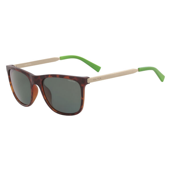 Rectangular Sunglasses with Matte Frame - Cafe
