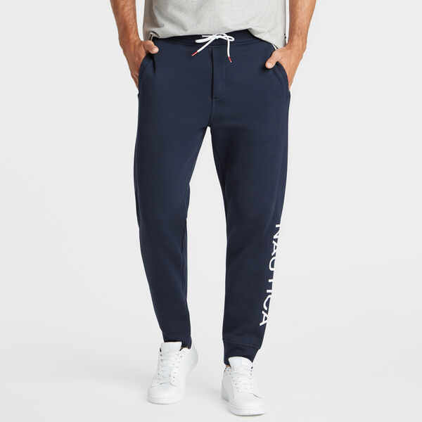 LEG LOGO TRACK PANTS - Pure Dark Pacific Wash