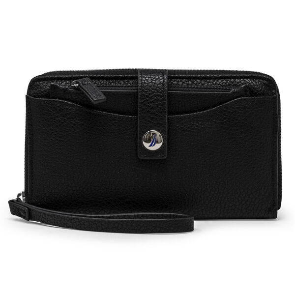 PLAIN SAILING ZIP AROUND WRISTLET - True Black