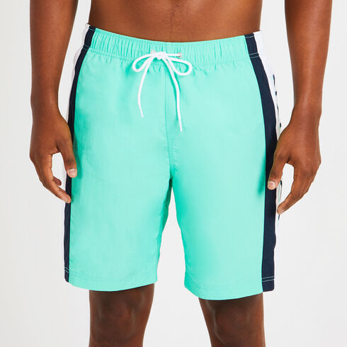 Side Logo Colorblock Swim Trunks - Mist Green