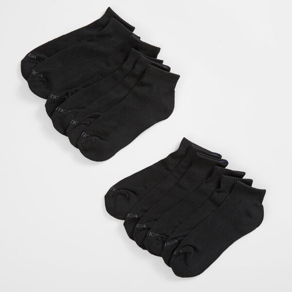 QUARTER ATHLETIC SOCKS, 6-PACK - Black