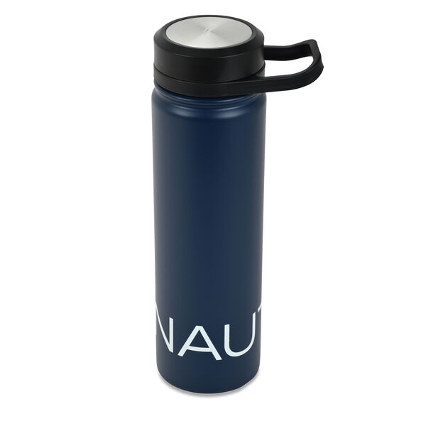 LOGO STAINLESS STEEL ROTATING HANDLE WATER BOTTLE - Navy