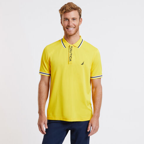 SHORT SLEEVE PERFORMANCE POLO IN CLASSIC FIT - Shoreline Yellow