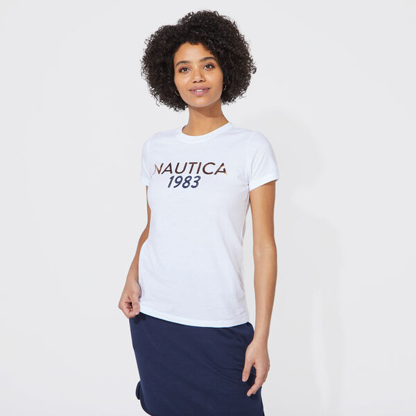 NAUTICA 1983 FOIL GRAPHIC TEE - Bright White