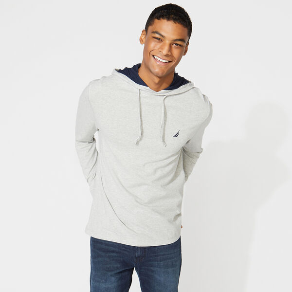 J-CLASS T-SHIRT HOODIE - Grey Heather