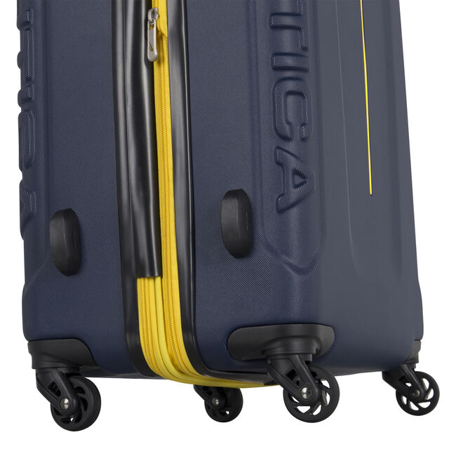 "Vernon Bay 24"" Hardside Spinner Luggage in Navy/Yellow,Pure Dark Pacific Wash,large"