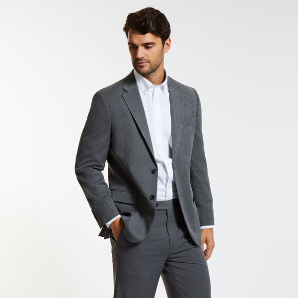 Venture Solid Suit Jacket - Grey Carbon