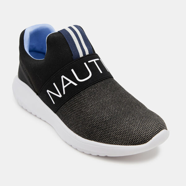 CANVEY EMBROIDERED KNIT SNEAKERS - True Black