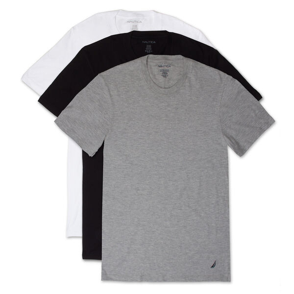 Crew T-Shirts, 3-Pack - Grey Heather