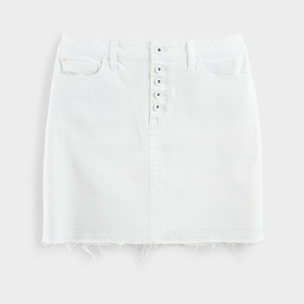 NAUTICA JEANS CO. DISTRESSED HEM DENIM SKIRT - Shell