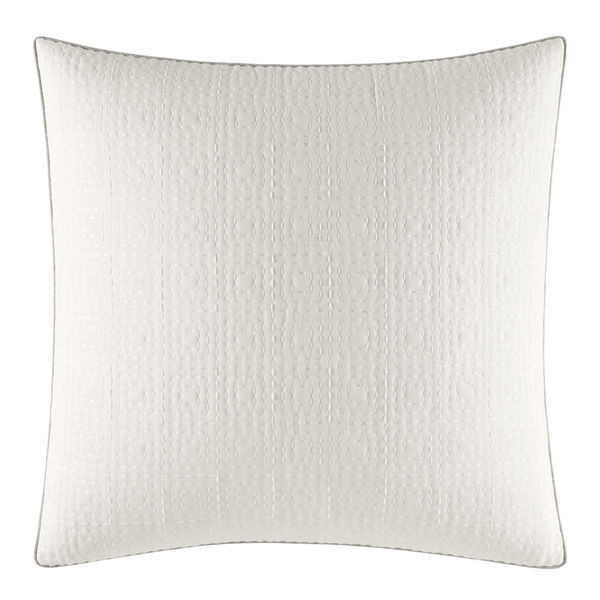 Ripple White Euro Sham - Bright White