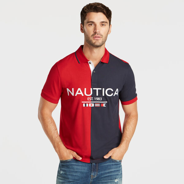 CLASSIC FIT SIGNAL FLAG PERFORMANCE POLO - Nautica Red