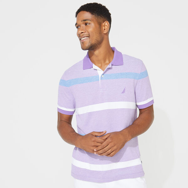 CLASSIC FIT STRIPE POLO - Ocean Violet