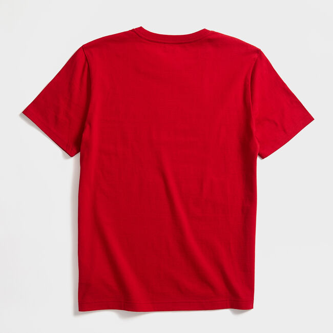 SAILBOAT SKETCH GRAPHIC T-SHIRT,Nautica Red,large