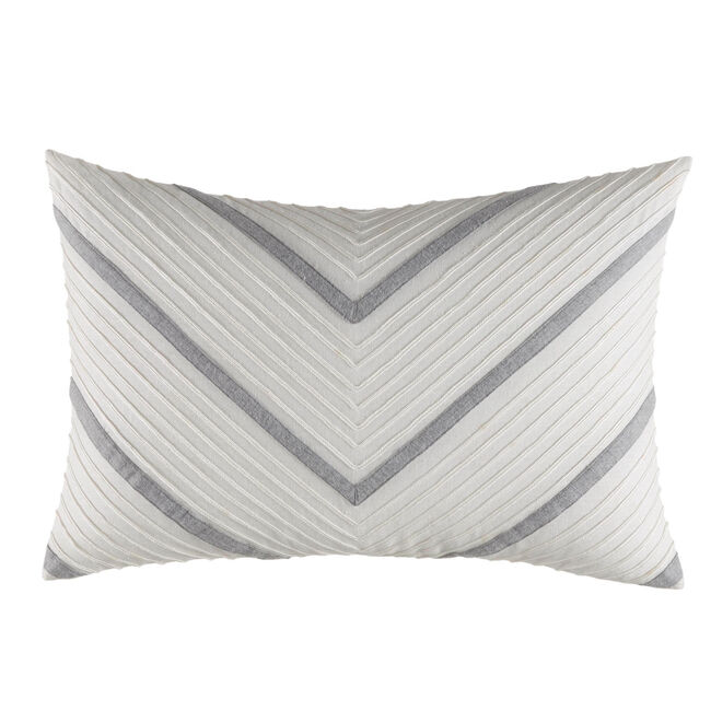Clearview Ivory Chevron Pillow,Antique White Wash,large