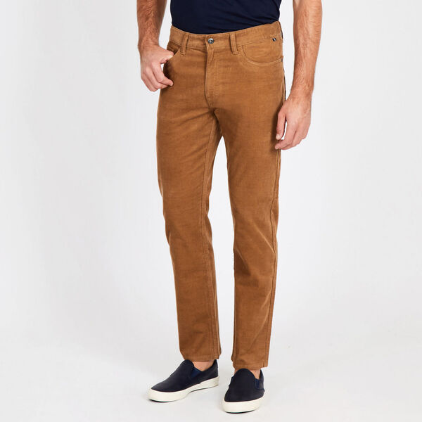 Straight Leg Corduroy Pant - Oyster Brown