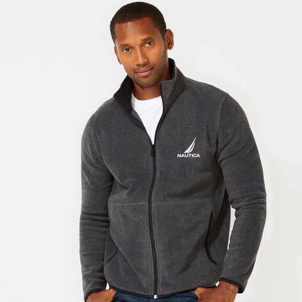 FULL ZIP NAUTEX FLEECE JACKET - Charcoal Heather