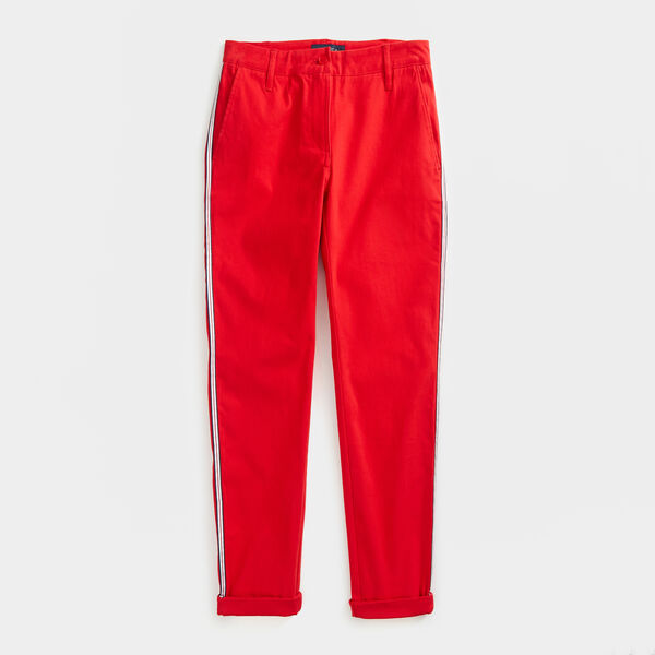 SIDE STRIPE CHINO PANTS - Tomales Red