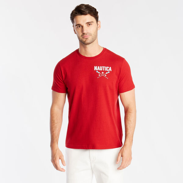 ALL AMERICAN SAILING GRAPHIC TEE - Nautica Red