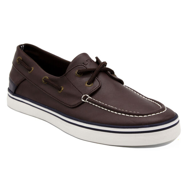 Galley 2 Boat Shoe in Brown/Navy - Dark Brown