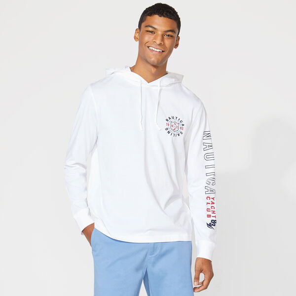 CLASSIC FIT T-SHIRT HOODIE - Bright White