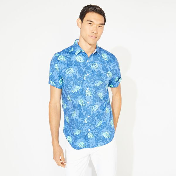 CLASSIC FIT TROPICAL FISH PRINT SHIRT - Limoges