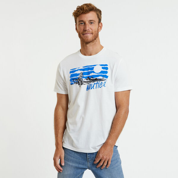 Mountain View Crewneck T-Shirt - Bright White