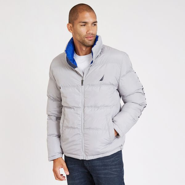 Arctic Puffer Bomber Jacket - Grey Alloy