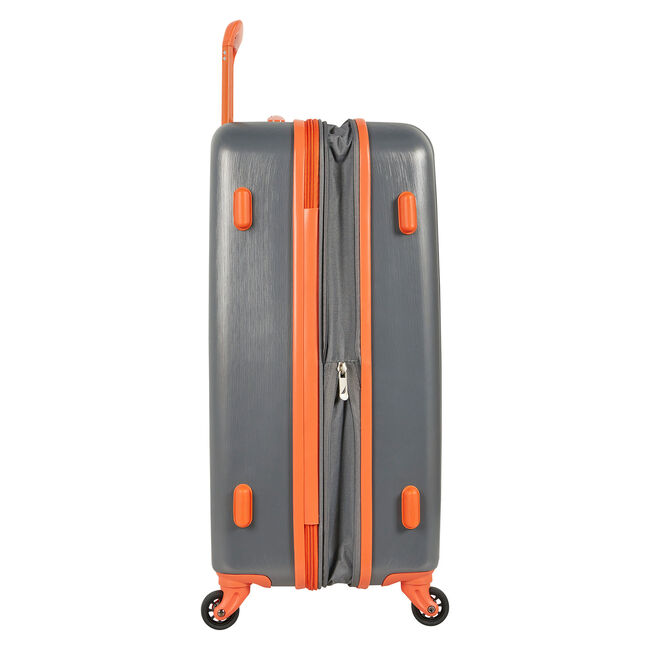 "Lifeboat 20"" Expandable Spinner Luggage,Grey Heather,large"