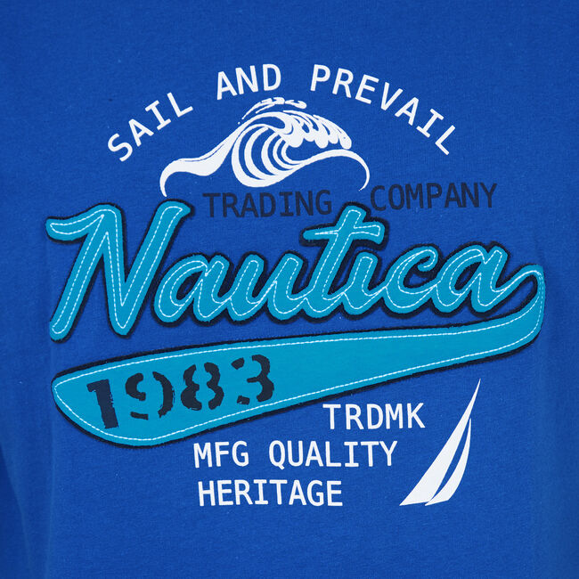 Sail & Prevail Crewneck T-Shirt,Monaco Blue,large