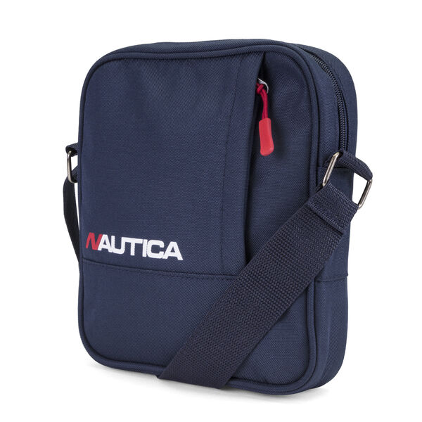 Racer Logo Crossbody Bag in Navy Blue - Navy