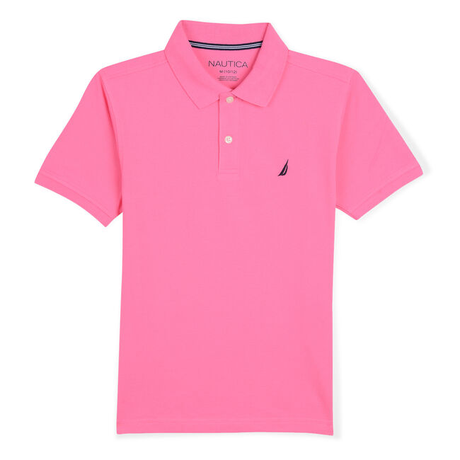 LITTLE BOYS' STRETCH DECK POLO (4-7),Pale Coral,large