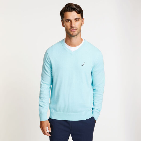 Jersey Navtech V-Neck Sweater - Harbor Mist