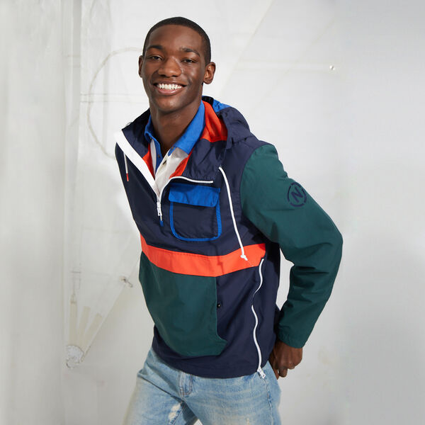 NAUTICA JEANS CO. COLORBLOCK LIGHTWEIGHT JACKET - Navy
