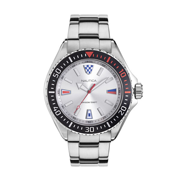 PARK BEACH STAINLESS STEEL WATCH - Multi
