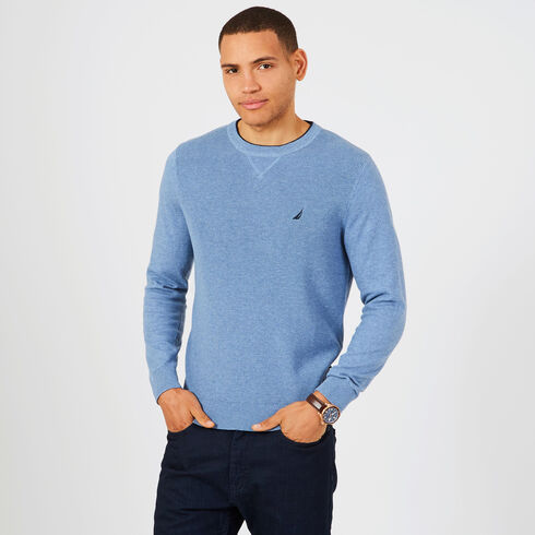 Navtech Performance Crewneck Sweater - Gulf Coast Blue