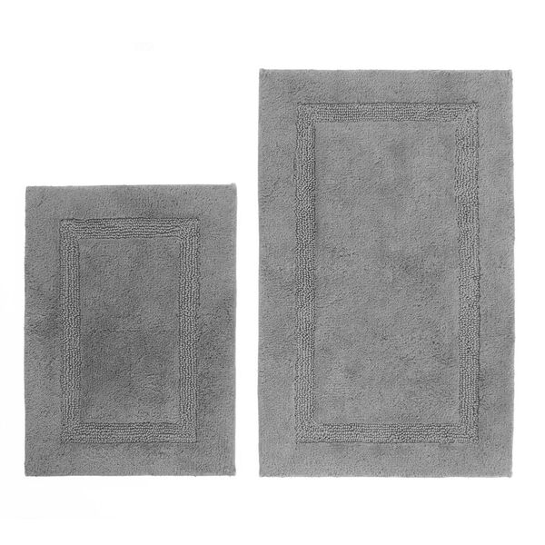 Peniston Gray Bath Rug Set - Grey Heather