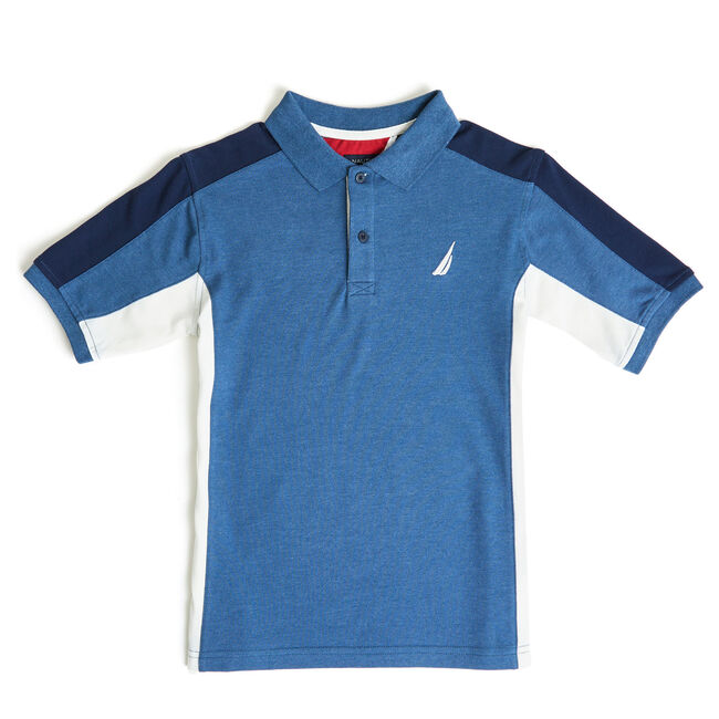 Boys' Helm Short Sleeve Heritage Polo (8-20),Noon Blue,large