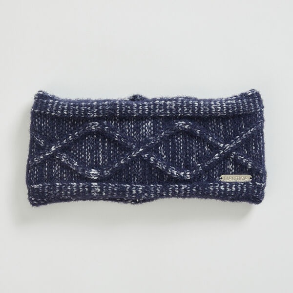 CABLE-KNIT HEADBAND - Navy