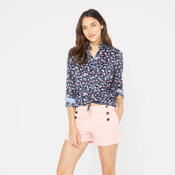 DITSY PRINT SHIRT - Stellar Blue Heather