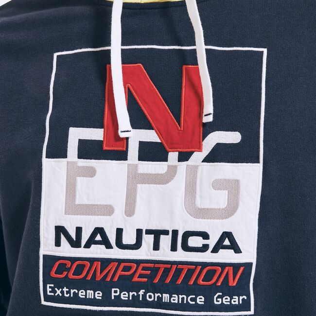 REISSUE GRAPHIC PULLOVER HOODIE,Navy,large